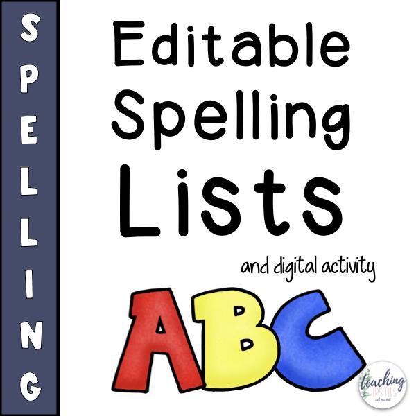 editable spelling list