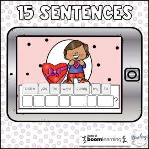 sentence scrambles for February