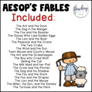 aesops fables stories